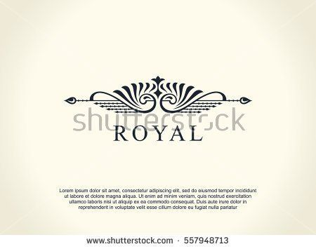 Calligraphic luxury line logo flourishes elegant emblem monogram royal vintage divider design black symbol decor for menu card invitation label restaurant cafe hotel vector line illustration stopboris Choice Image