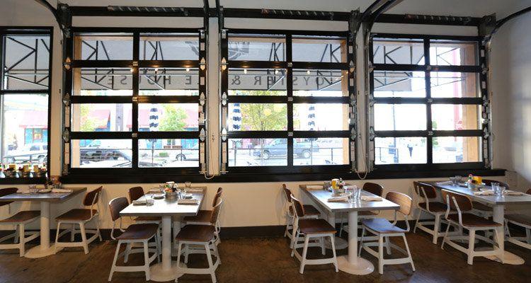 glass garage doors restaurant. Check Out How This Restaurant Used Glass Garage Doors To Create A Unique And Trendy Vibe! The Overhead Door\u0027s Aluminum Door In Black.