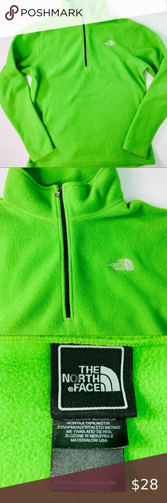 The North Face Lime Green Fleece Half Zip Pullover Half Zip Pullover The North Face Half Zip [ 1740 x 580 Pixel ]
