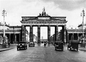 Berlin 1938 Hindenburgplatz Vor Dem Brandenburger Tor Western Front Berlin Brandenburg Gate