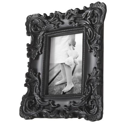 Resin baroque frame black baroque baroquebeauties 12 for Plastic baroque furniture