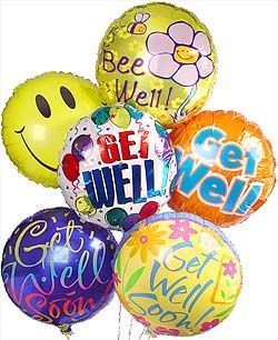 Get Well Balloons I Get Well Balloon Bunch Hospital Gift Shop Get Well Balloons Get Well Gift Baskets Get Well Soon Gifts