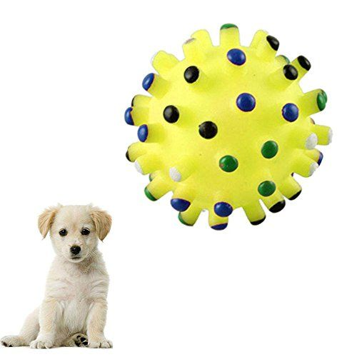 Pet Toy Ftxj Pet Play Squeaky Quack Sound Chew Treat Ball Toy