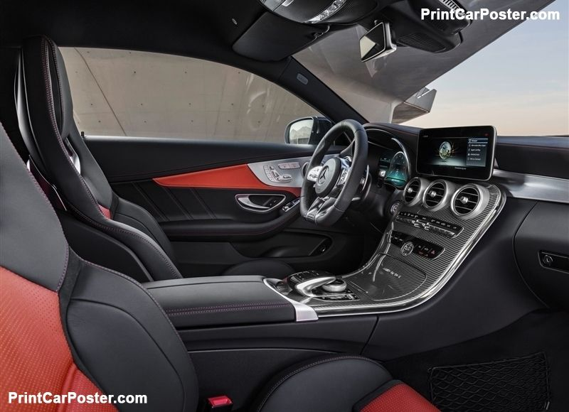 Mercedes Benz C63 S Amg Coupe 2019 Poster Mercedes Amg Benz