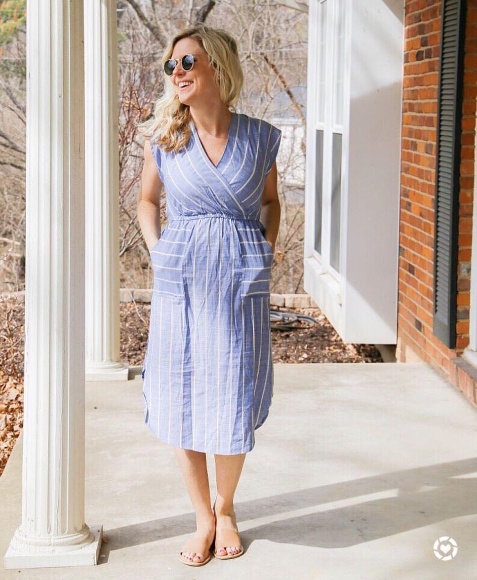 Wrap Dress Universal Thread Wrap Dress Target Wrap Dress Blue And White Stripe Dress [ 1175 x 966 Pixel ]