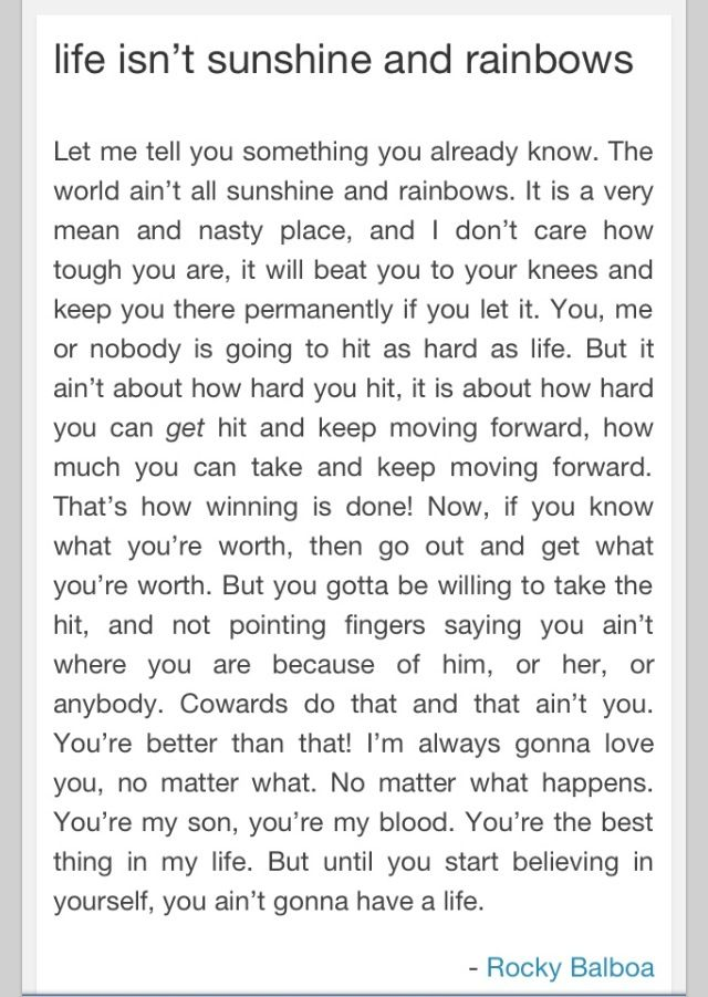 Rocky Balboa One Of My Favourite Speeches Ever Rocky