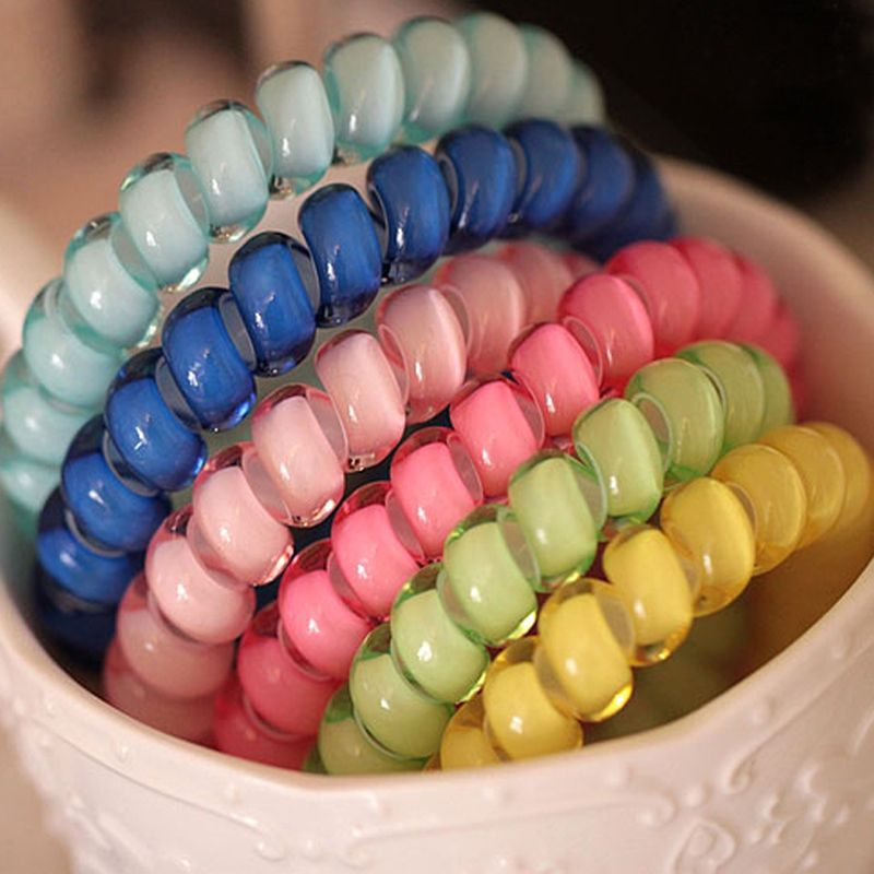 50Pcs Telephone Wire Gum Spring Ponytail Holder Elastic Hair Bands Hair Ties Rings  Scrunchy Hairbands Hair Accessories For Women 198e2916696