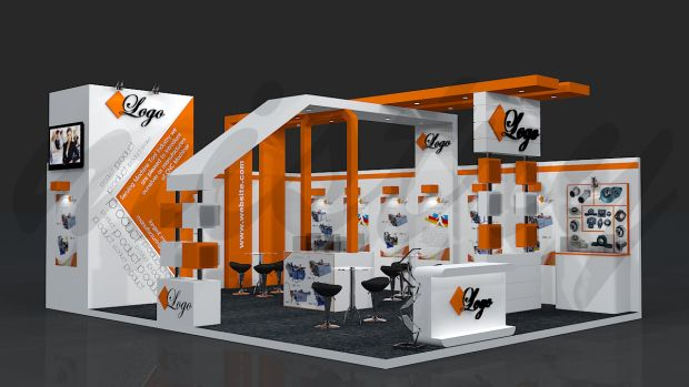 2 Side Open Exhibition Stand Design Google Search
