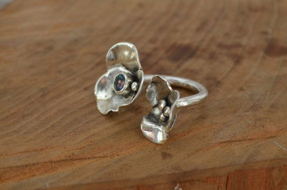 Sterling Silver Double Blossoms Ring by ReaganHayhurst on Etsy