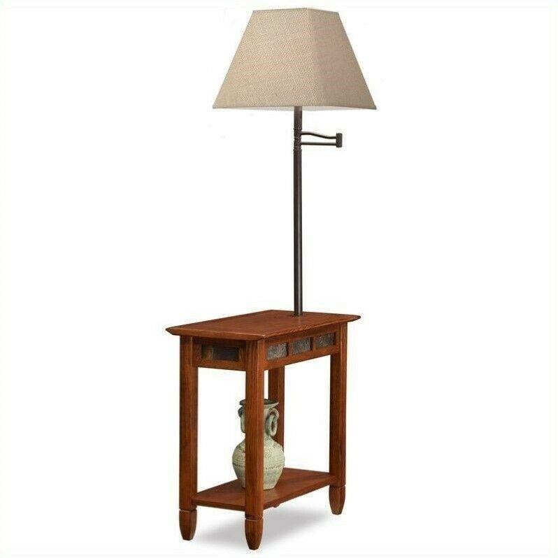 Bowery Hill Slate Chairside Lamp End Table In Rustic Rustic Table Ideas Of Rustic Table Rustictable With Images Chair Side Table Decorative Table Lamps Rustic Table