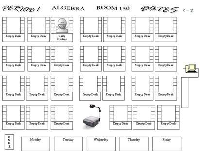 If you have a student who talks to everyone, esp his best friend - classroom seating arrangement templates