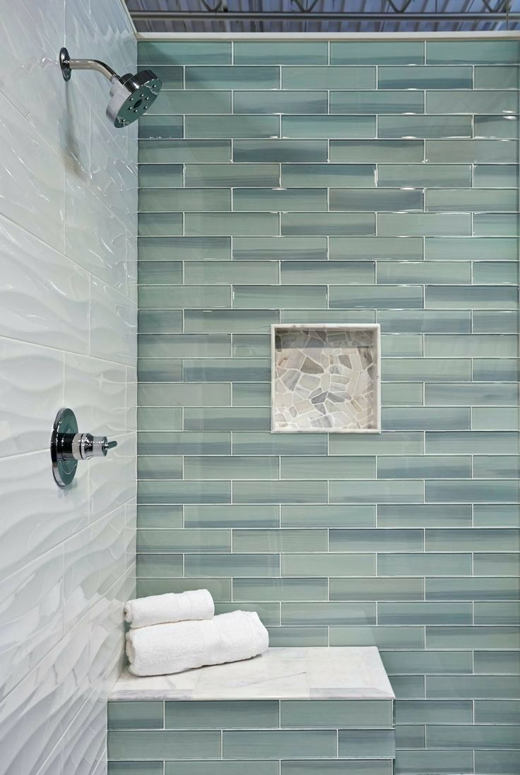 Image result for multicolor subway tile shower wall | Master Bath ...