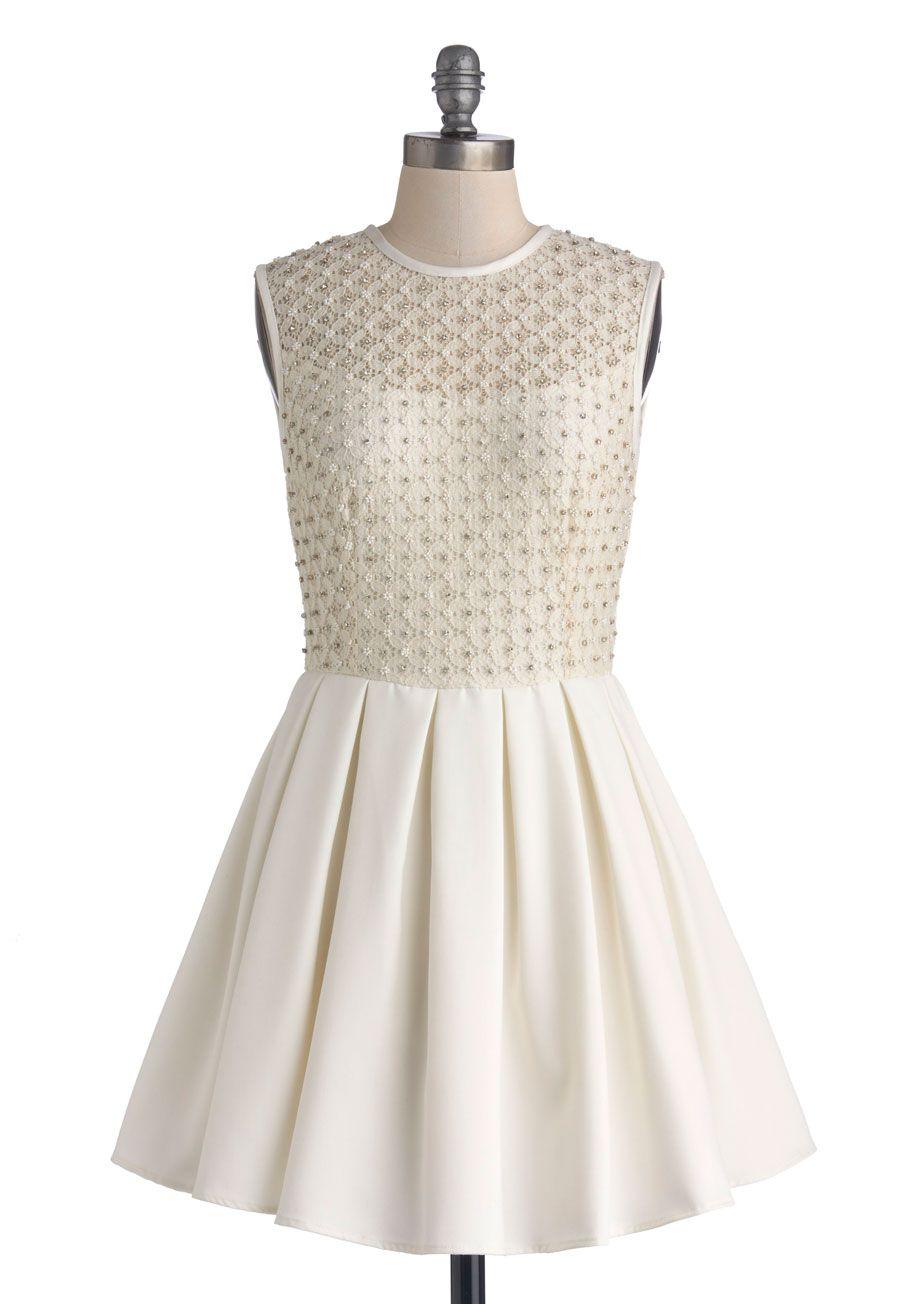 Gem i fall in love dress sheer woven short white tan cream