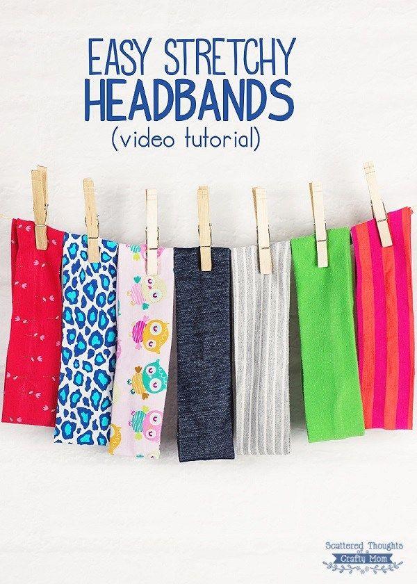 Tutorial: Easy stretchy knit headbands
