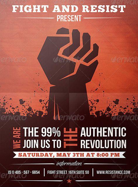 Revolution Indie Rock Flyer Template  HttpWwwFfflyerCom