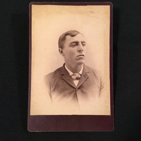 Handsome Cabinet Card of a Young Man 19th Century Antique