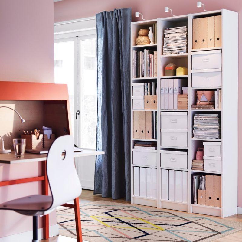 Arbeitszimmer gestaltungsideen  Gestaltungsideen mit Ikea - platzsparend und modern | Einrichtung ...
