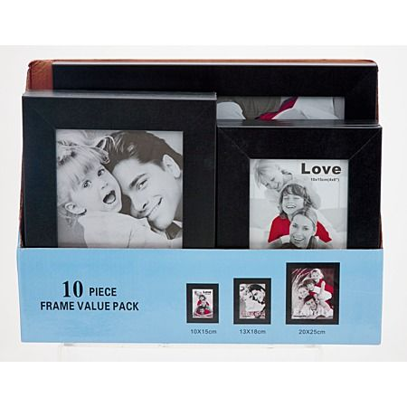 Geneva Frame Assorted Black 10 Pack