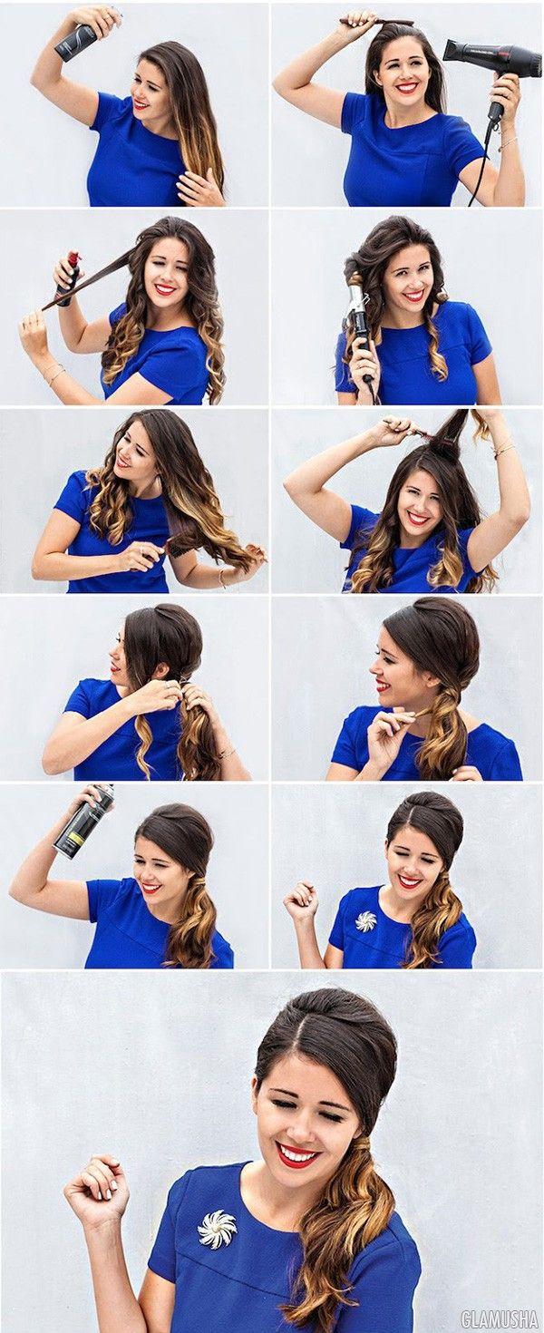 как сделать хвост с начесом | Прически на длинные волосы, косы ...