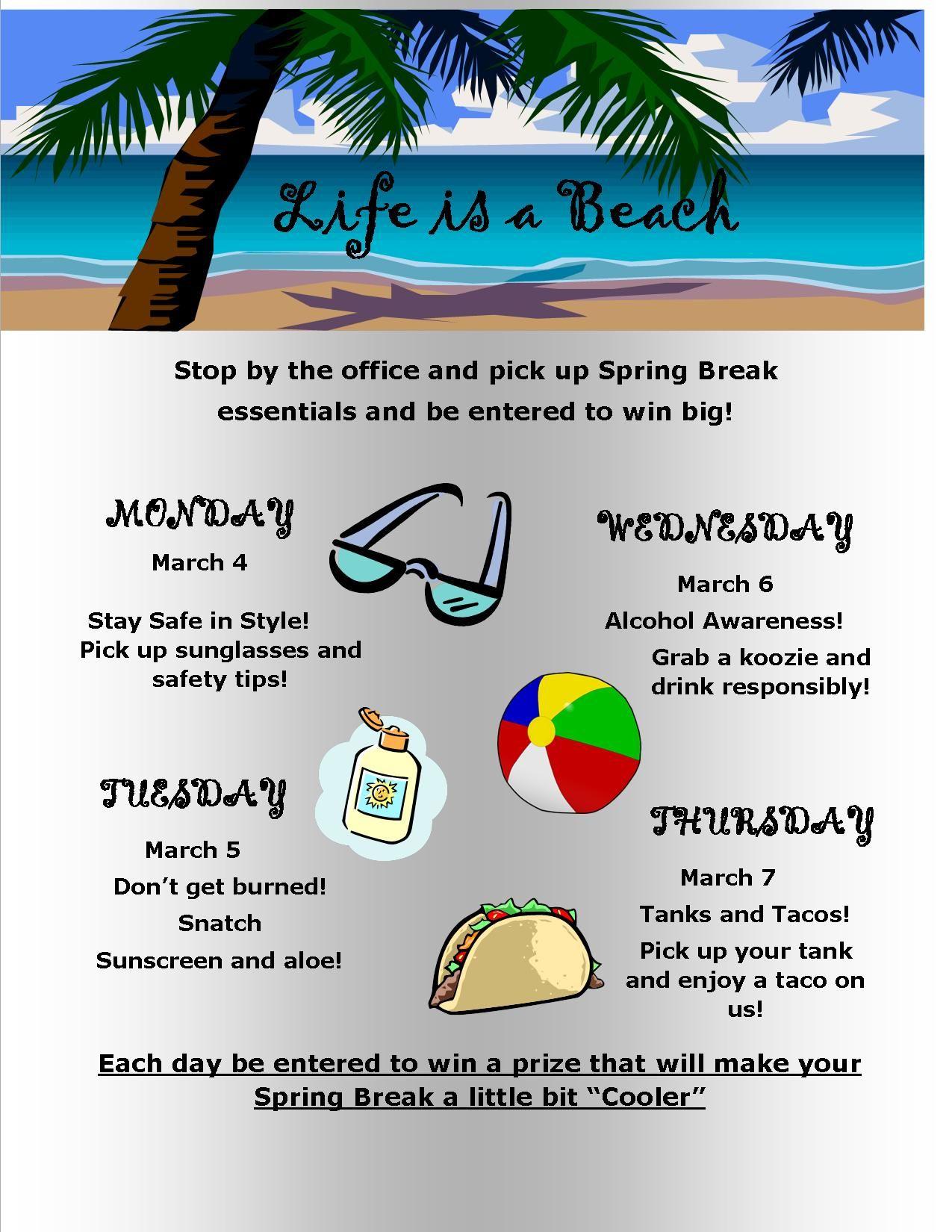 spring break events for residents work pinterest