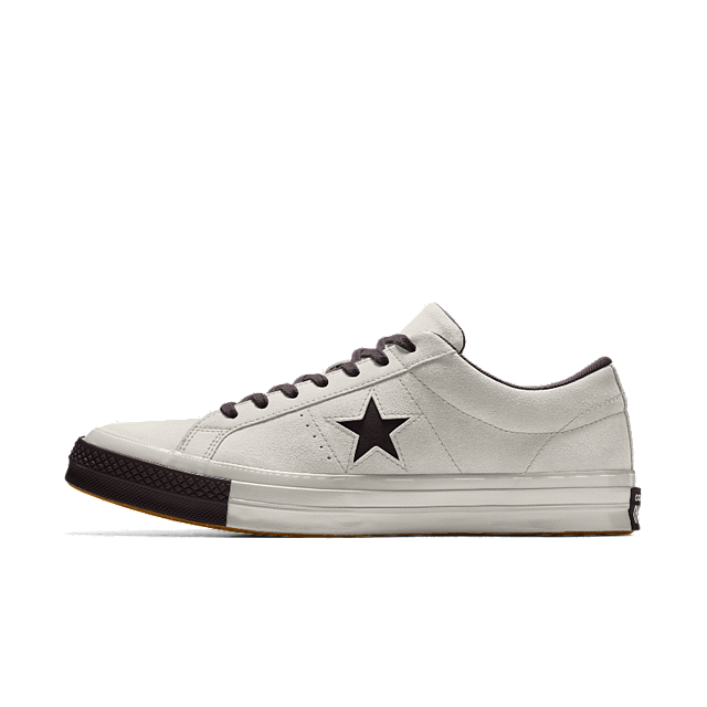 Converse Gray Custom One Star Suede Shoe for men