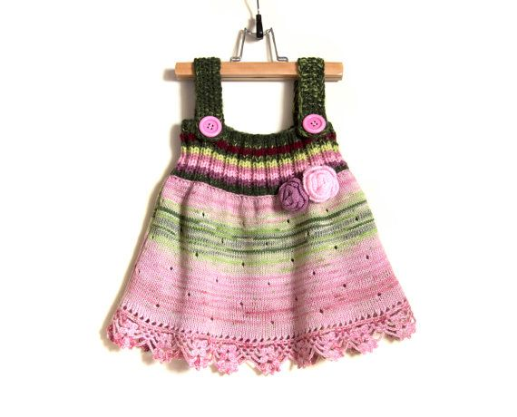 Hand Knitted Pinafore Dress /& Jumper