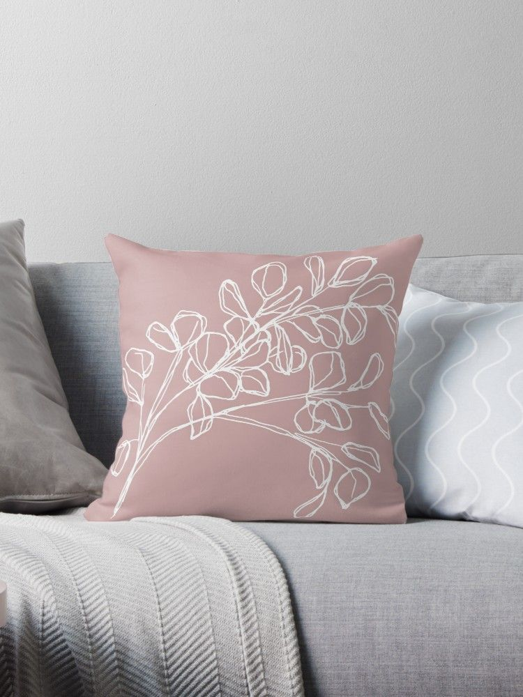 Eukalyptus Altrosa Dekokissen In 2020 Pink Throws Pink Throw Pillows Throw Pillows
