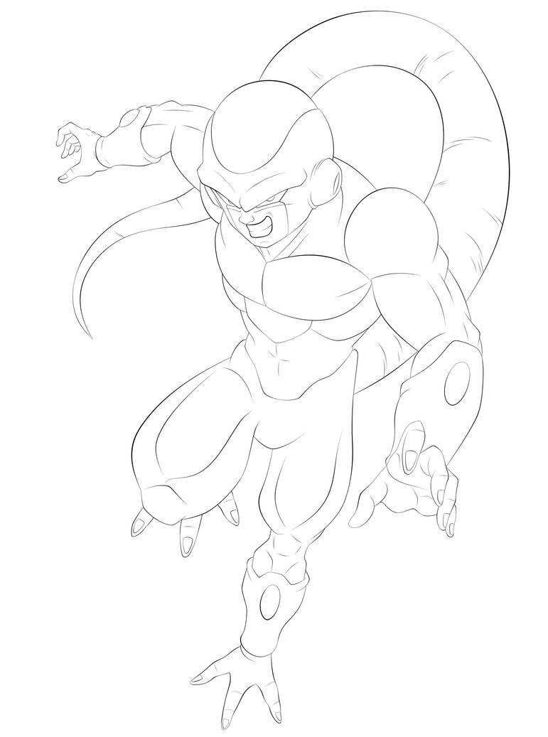 Freezer Dorado Linework 1 By Ssjrose890 On Deviantart Dragon Ball Artwork Dragon Ball Super Art Dragon Ball Art