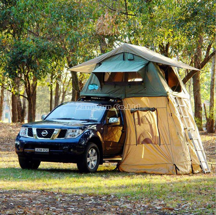 Folding Large Roof Tent Canvas Roof Top Tent & Folding Large Roof Tent Canvas Roof Top Tent | Rooftop Tent ...