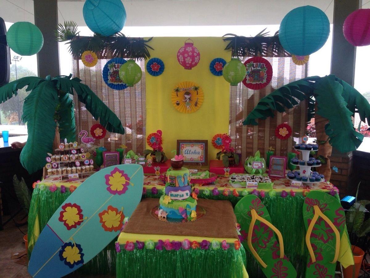 Decorai nde fiestas candy bar frozen hawaiana y otros - Ideas decoracion bar ...
