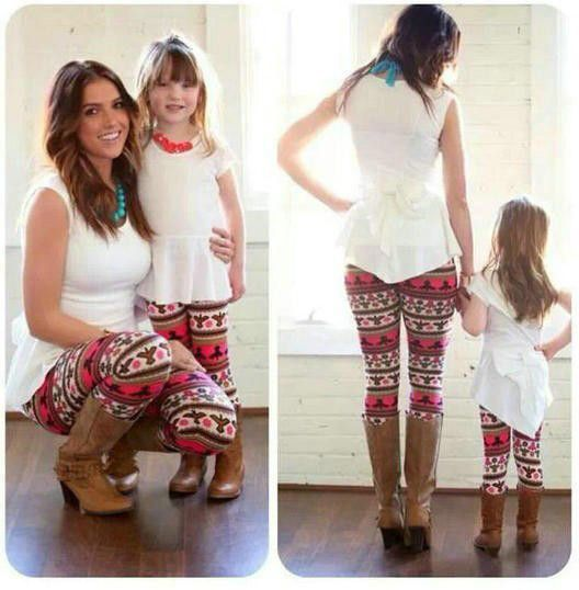 Mommy Daughter Matching Leggings