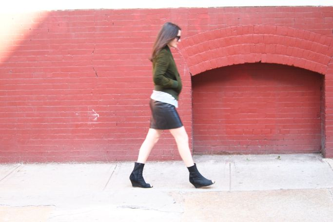 look jupe cuir noir
