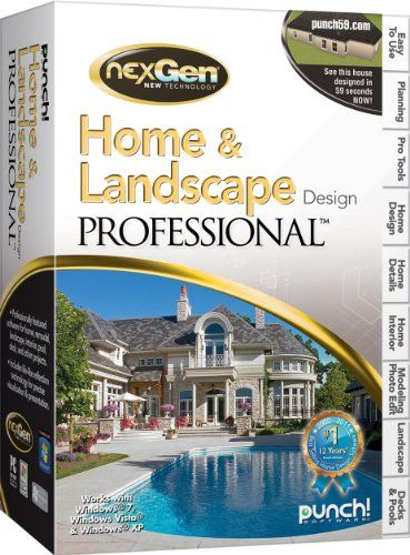 Home U0026 Landscape Design Professional With NexGen Technology V3 From Punch!  Professionally Featured Software For