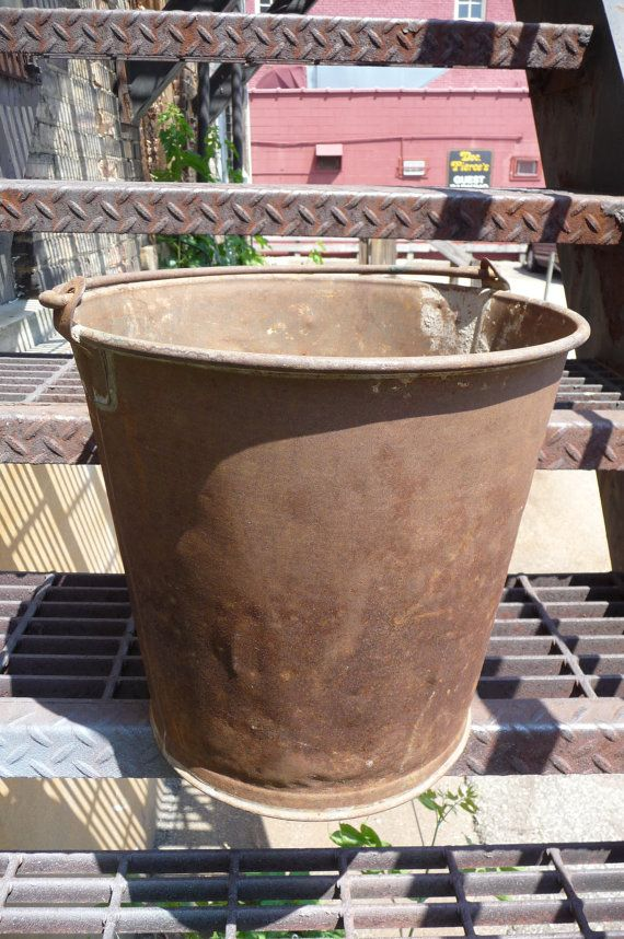 Big bucket Rusty Crusty primitive farmhouse Pail by MySeriousSide, $24.00