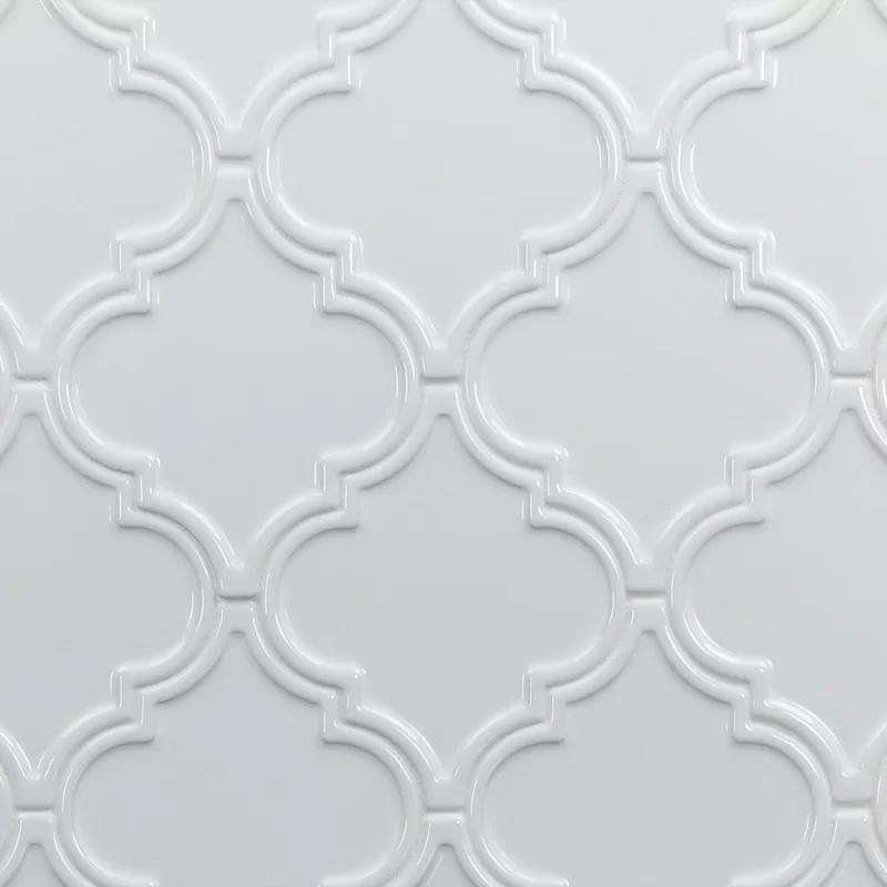 Vintage Lantern 6 X 7 Ceramic Field Tile Ceramic Wall Tiles White Arabesque Tile Arabesque Tile