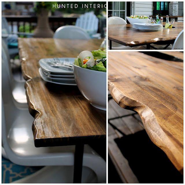 Live Edge Coffee Table Diy: How To DIY : Live Edge Wood Table