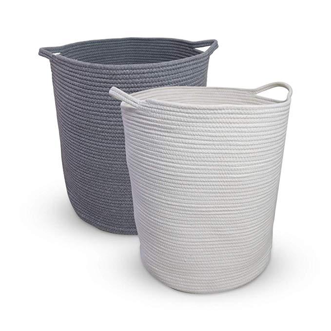 Amazon Com Ezy Iron Cotton Rope Laundry Basket Xxl 2 Pack 19