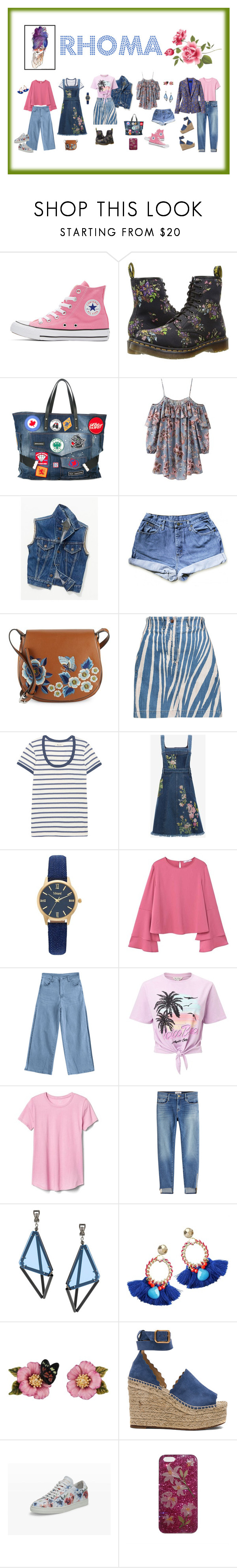 """Self-Portrait - Rhoma"" by elizabeth-pride ❤ liked on Polyvore featuring Converse, Dr. Martens, Pippa, Dsquared2, Free People, French Connection, Roberto Cavalli, Madewell, Alexander McQueen and Vivani"