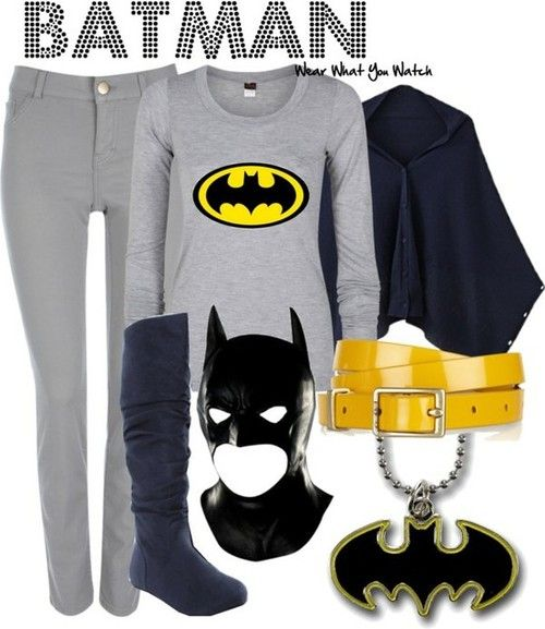 Batman inspired outfit minus the gay mask.  Any son would be proud to have his mother wear this.  At least if he was around 5 or 6 yrs. old.