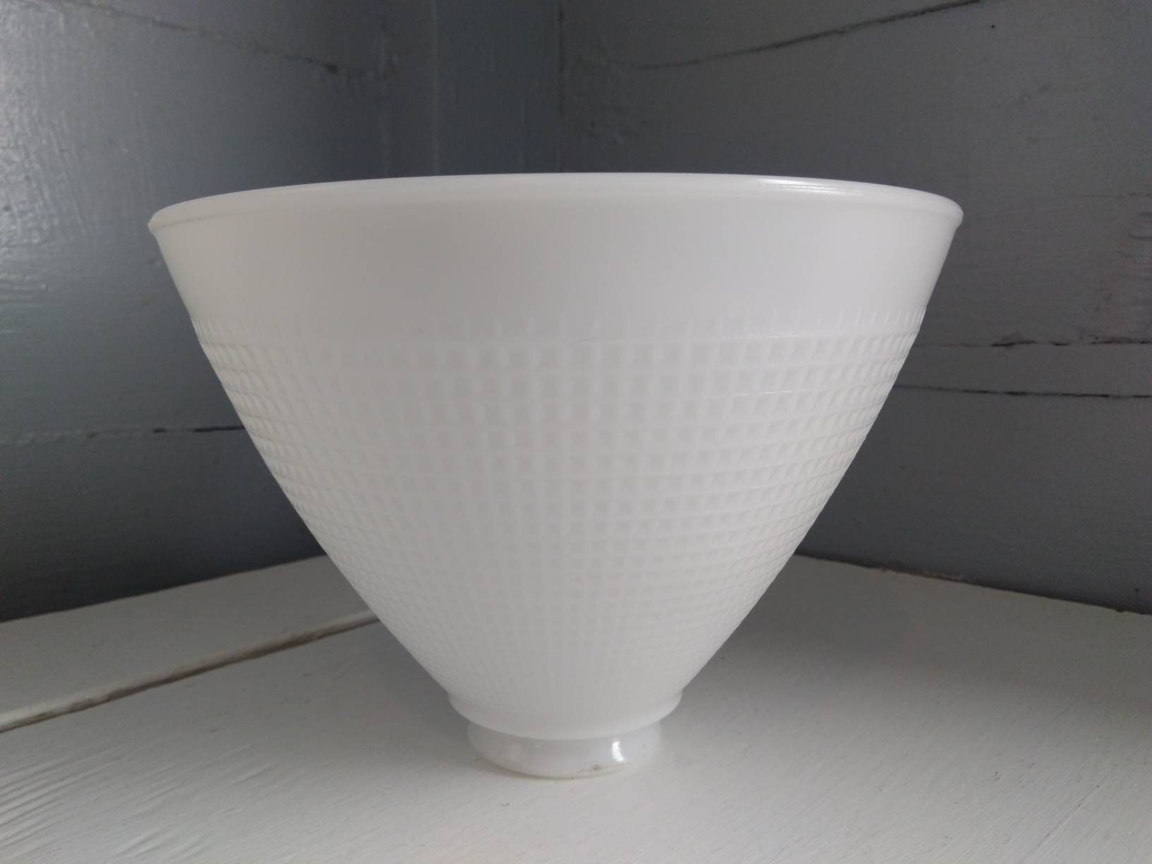 Vintage Art Deco 8 Inch Lamp Shade Glass White Floor Lamp Shade Globe Torchiere Diffuser Repl White Milk Glass Floor Lamp Shades Lamp Shade