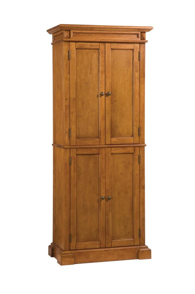 Distressed Oak Pantry Pantry Cabinet