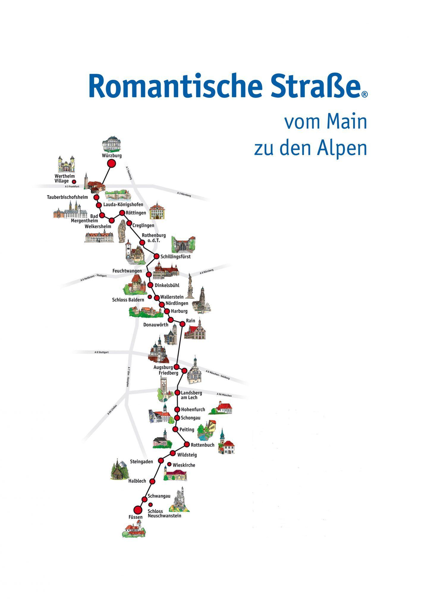 Romantische Strasse Romantik Und Kultur Vom Main Bis Zu Den Alpen Travelcircus Urlaubsziele In 2020 Alpen Romantik Urlaubsziele