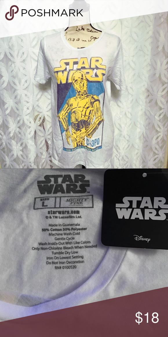 65314b33654 Star Wars The Empire Strikes Back C-3PO Tee NWT Star Wars The Empire Strikes