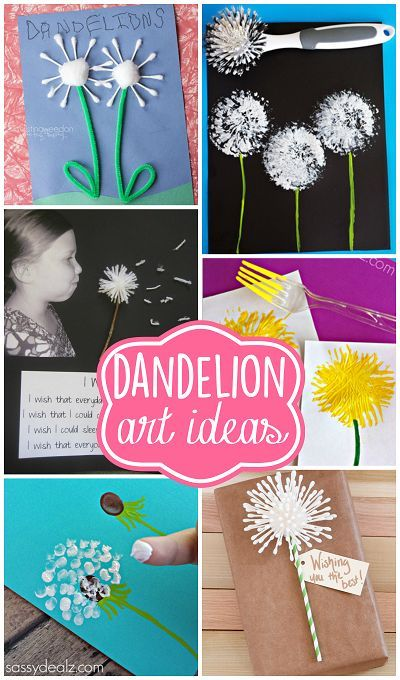 Pretty Dandelion Art Craft Ideas For Kids And Adults