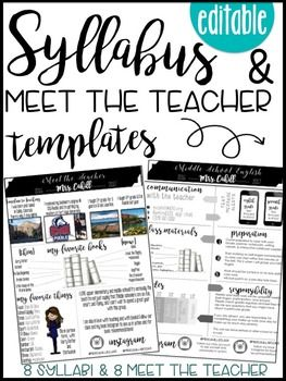Syllabus And Meet The Teacher Editable Infographic Templat Meet The Teacher Template Meet The Teacher Syllabus Template High Schools