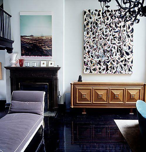 art palette/ lavender sofa