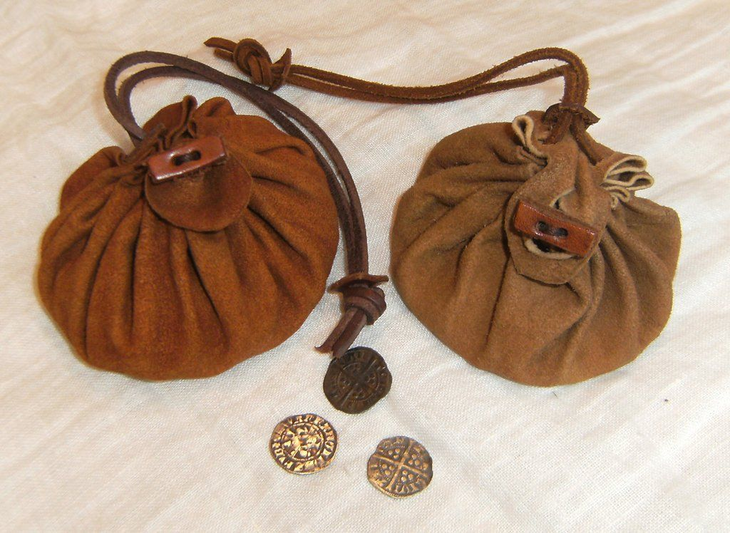 Leather drawstring bags by LukasKubke.deviantart.com on ...