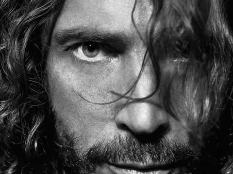 Chris Cornell Look Black and white