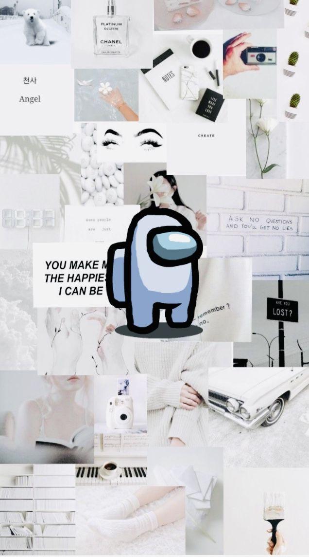 Among Us White Wallpaper Cute Patterns Wallpaper Wallpaper Iphone Cute Cute Emoji Wallpaper