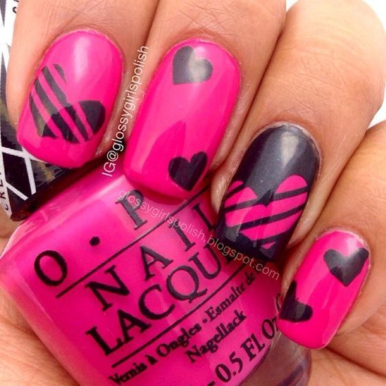 30 Rocking Valentines Day Nails Designs | Toe nail art, Fabulous ...